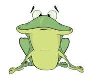A green frog. Cartoon Stock Photos