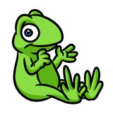 Green frog cartoon Stock Images