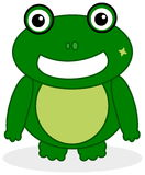 A green frog face Stock Image