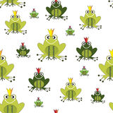 Green Frog prince pattern Royalty Free Stock Photo
