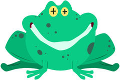 Green Frog Smiling Royalty Free Stock Photo