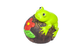 Green frog toy Stock Images