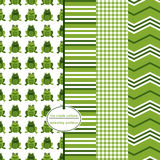 Seamless Background Patterns - Green Frogs Royalty Free Stock Photography