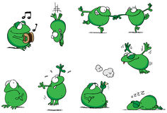Green frogs illustration Royalty Free Stock Photos