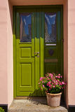 Green front door Stock Image