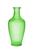 Green Frosted Glass Vase Isolated Royalty Free Stock Image