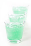 Green Frozen Drinks Royalty Free Stock Photography