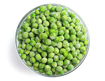 Green frozen peas Stock Photography