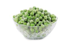 Green frozen peas. Stock Photos