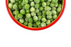 Green frozen peas Stock Photography