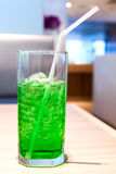 Green fruit flavor soft drinks whit soda water Royalty Free Stock Photos