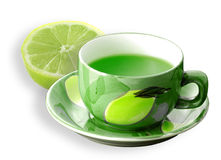 Green fruit juice Stock Photos