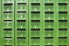 Green Fruit packing crates Royalty Free Stock Images