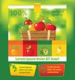 Green fruit template Royalty Free Stock Photos