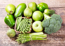 Green fruit and vegetables Royalty Free Stock Photography