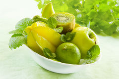 Green Fruits Stock Images