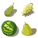 Green fruits Royalty Free Stock Photos