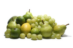 Green fruits isolated on white Royalty Free Stock Photos