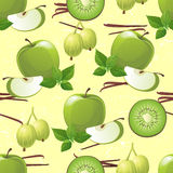 Green fruits seamless Royalty Free Stock Photos
