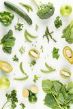 Green fruits and vegetables Stock Photo