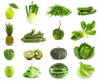 Green Fruits and Vegetables Stock Photography