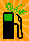Green fuel. Using ecological and green fuel Stock Images