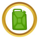 Green fuel canister vector icon Royalty Free Stock Images