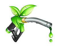 Green fuel nozzle. Clipart illustration Royalty Free Stock Photo
