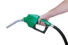 Green fuel nozzle Royalty Free Stock Photography