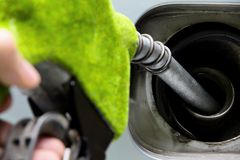 Green fuel nozzle Royalty Free Stock Images