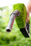 Green fuel nozzle Royalty Free Stock Image