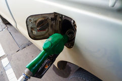 The green fuel nozzle Royalty Free Stock Photo