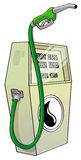 Green fuel pump Stock Photos