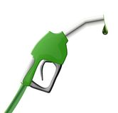 Green fuel pump gun Royalty Free Stock Photos