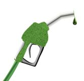 Green fuel pump gun Stock Photography