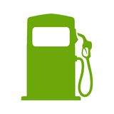 Green fuel pump Stock Photo