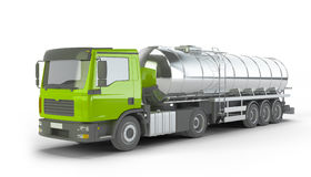 Green Fuel Tanker Truck Stock Image