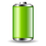 Green full battery Stock Photo