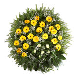 Green funeral wreath Royalty Free Stock Photos