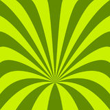 Green funnel background - vector design from curved rays Royalty Free Stock Photography