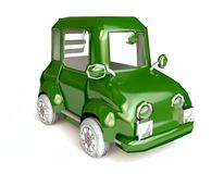 Green Funny Cartoon Car Stock Images