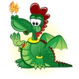 Green funny dragon Royalty Free Stock Photos