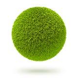 Green fur carpet ball Stock Photo