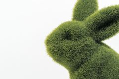 Green furry easter bunny`s close up stock photos