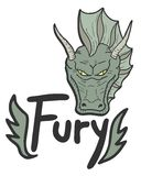 Green fury Stock Photo