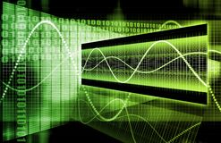 Green Futuristic Business Chart. A Green Futuristic Business Chart Abstract Art Royalty Free Stock Images