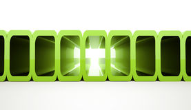 Green futuristic elements Royalty Free Stock Images