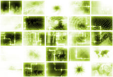 Green Futuristic Media Abstract Background Royalty Free Stock Images