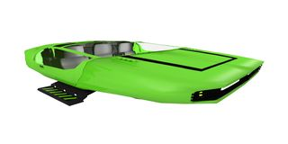 Green futuristic vehicle Stock Photo