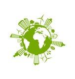 Green Futuristic World Stock Photography
